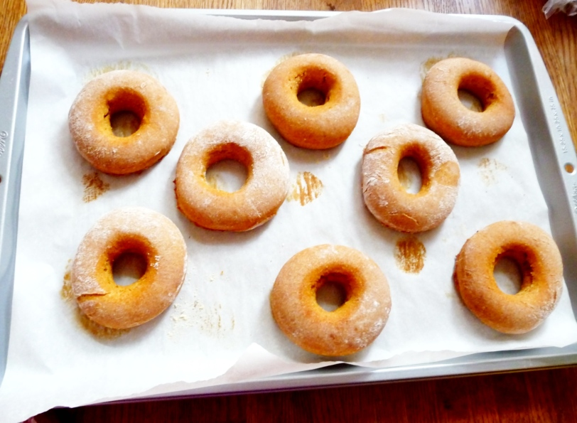 just baked doughnuts