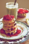 Smashed Raspberry & Chocolate Chunk Pancakes